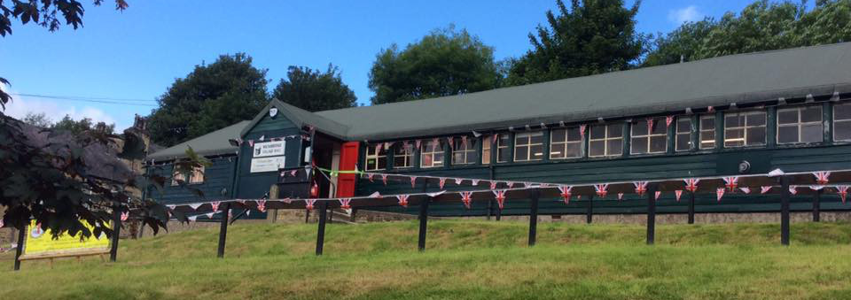 Milnsbridge Village Hall with bunting